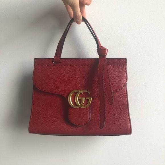 0b762ac2c429 Gucci Bags | Calfskin Gg Marmont Top Handle Bag | Poshmark